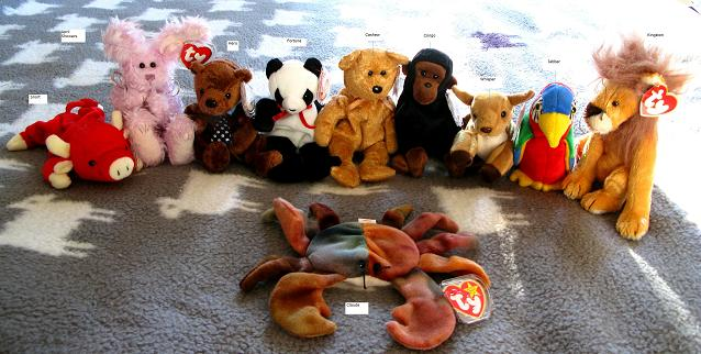 Collectable Beanie Bears from Honey Beeswax