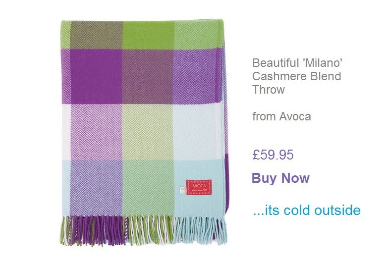 Beautiful Milano Cashmere Blend Throw - Buy Now