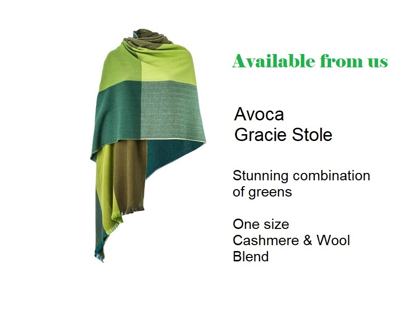 Gracie Stole woven at the Avoca Mill in Southern Ireland