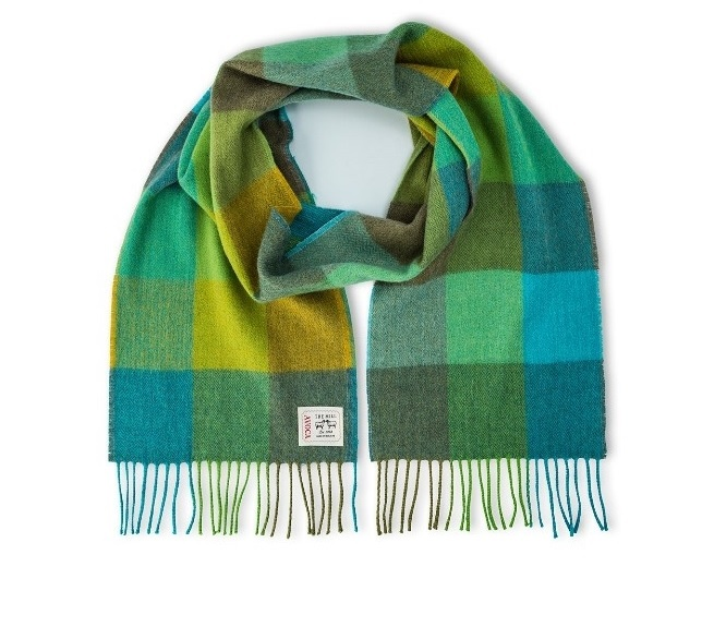 Avoca Merino wool Green Fields Scarf from Honey Beeswax