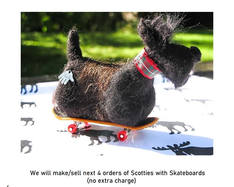Skatieboarding Scottie Dog - Christmas 2021 Special
