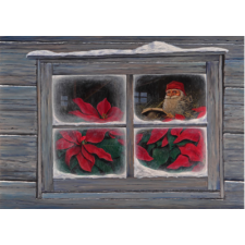 Jan Bergerlind Christmas Postcards - Christmas Poinsettia - Honey Beeswax