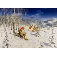Jan Bergerlind Christmas Postcards - Deers - Honey Beeswax