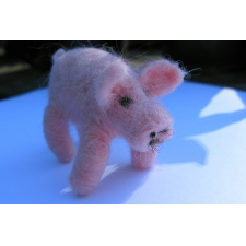 Needle Felted Pig  - Handmade by Honey Beeswax