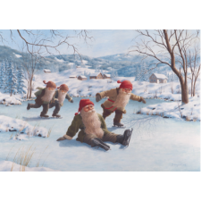 Jan Bergerlind Christmas Postcards - Oops - Honey Beeswax