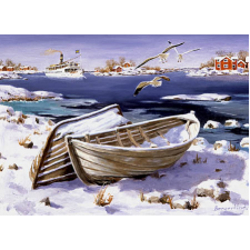 Jan Bergerlind Christmas Postcards - Seagulls - Honey Beeswax