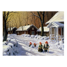 Jan Bergerlind Christmas Postcards - Snowball - Honey Beeswax