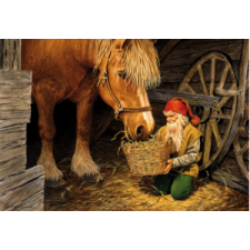 Jan Bergerlind Christmas Postcards - Waggon Wheel - Honey Beeswax
