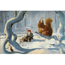 Jan Bergerlind's Advent Calendar Card - Squirrel - from Honey Beeswax
