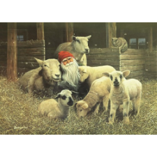 Jab Bergerlind Advent Calendars - Tomte and Lambs - Honey Beeswax