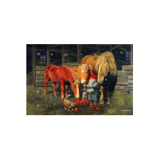 Jan Bergerlind's Advent Calendar Card - Tomte and Horses - from Honey Beeswax