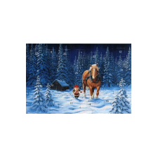 Jan Bergerlind's Advent Calendar Card - Tomte and Horse in the Snow - from Honey Beeswax