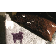 Black Sheep Felt Pillow - Honey Beeswax