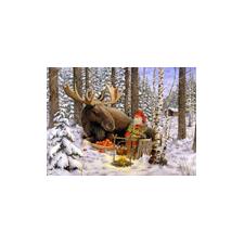 Jan Bergerlind Christmas Poscards - Moose - Honey Beeswax