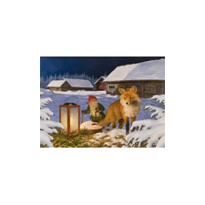 Jan Bergerlind - Christmas Postcards - Fox - Honey Beeswax