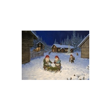 Jan Bergerlind - Christmas Postcards - Christmas on the Farm - Honey Beeswax