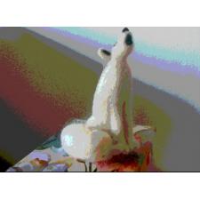 Handmade Arctic Fox - made by Honey Beeswax