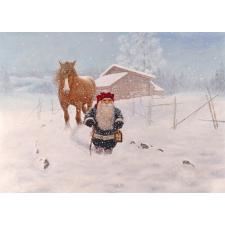 Jan Bergerlind Christmas Postcards - Snowstorm - Honey Beeswax