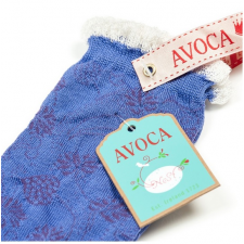 Avoca Flora Socks in Purple from Honey Beeswax