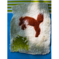 Felted Landscape - Little Fox - Pouncing