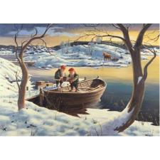 Jan Bergerlind Christmas Postcards - Tomte getting supplies - Honey Beeswax
