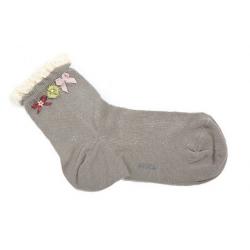 Avoca Sisi Socks in Grey available from Honey Beeswax