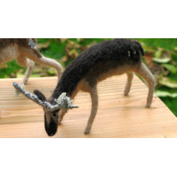 Stag Sculpture - Handmade from Shetland and Alpaca Wool - Honey Beeswax