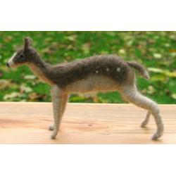 Fallow Deer - Handmade from Shetland and Alpaca Wool - Honey Beeswax