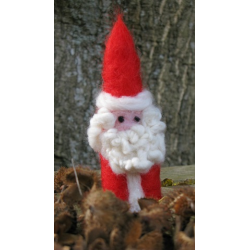 Needle Felted Father Christmas - Handmade by Honey Beeswax