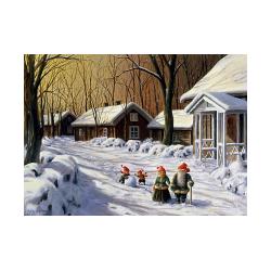 Jan Bergerlind Christmas Postcards - Snowball - Honey Beeswax