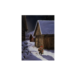 Jan Bergerlind Christmas Postcards - Stuga - Honey Beeswax