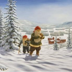 Jan Bergerlind Napkins - Tomte - Honey Beeswax
