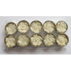 White Rose Flower T-Lights