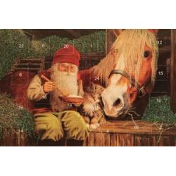 Jan Bergerlind's Advent Calendar Card - Barn - from Honey Beeswax
