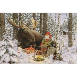 Jan Bergerlind's Advent Calendar Card - Moose - from Honey Beeswax