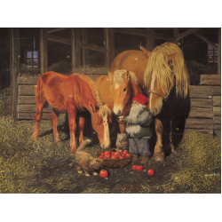 Jab Bergerlind Advent Calendars - Feeding the Horses - Honey Beeswax