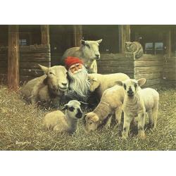 Jab Bergerlind Advent Calendars - Tomte and Lambs - Honey Beeswax