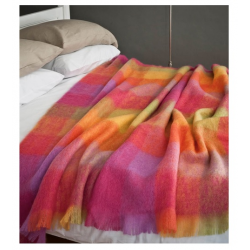 Avoca Mohair Throws - Lotus