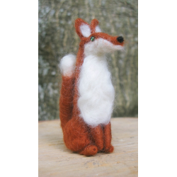 Needle Felted Fox - Handmade by Honey Beeswax