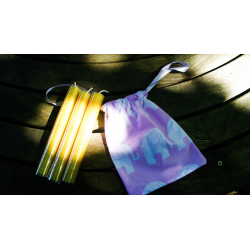 Three Beeswax Candles in a Drawstring Bag from Honey Beeswax