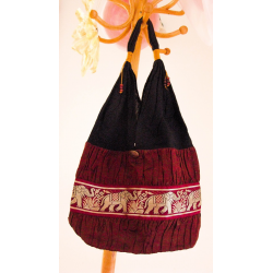 Thai Silk Shoulder Bags - Boho Style - HippyChicks - Sixties - Retro - Red