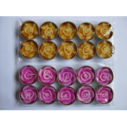 Rose - Flower T-Lghts - all available colours