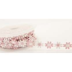 15 mm Daisy Trim in Pink and White
