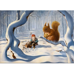 Tomte and the Squirrel