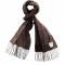 Avoca Specttrum Cashmere Scarf in Brown available from Honey Beeswax